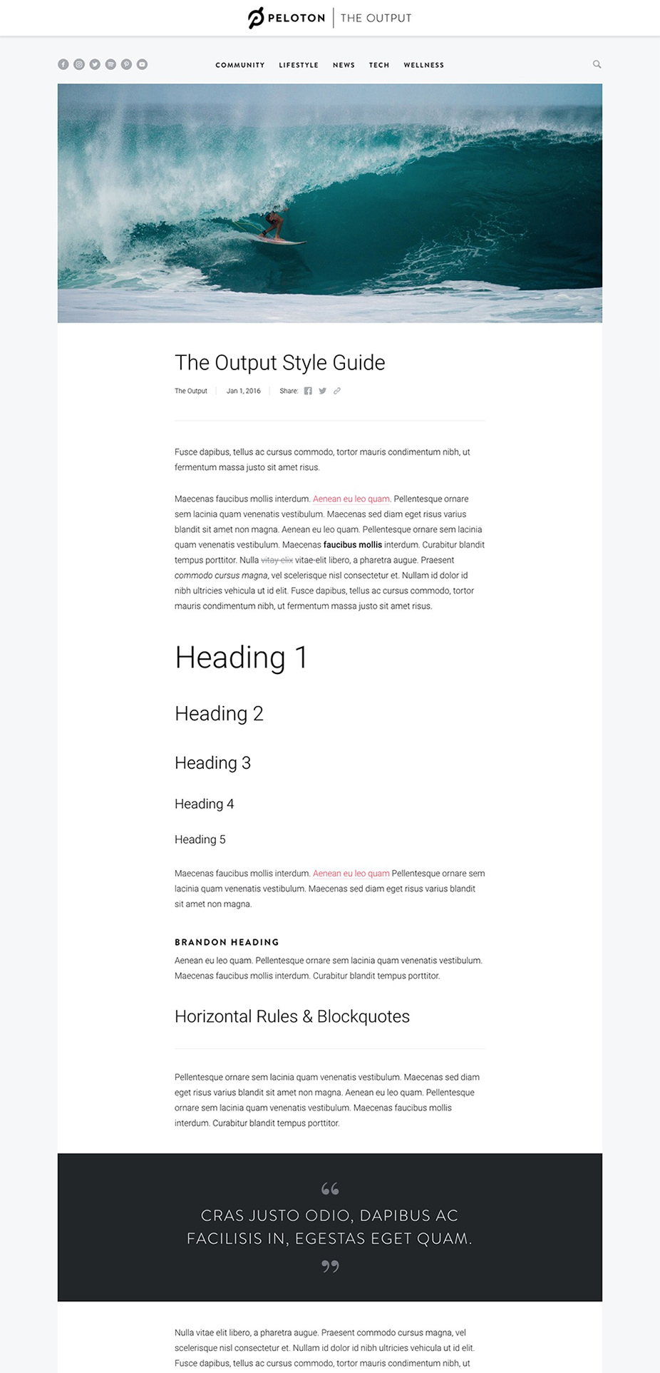 The Output Styleguide